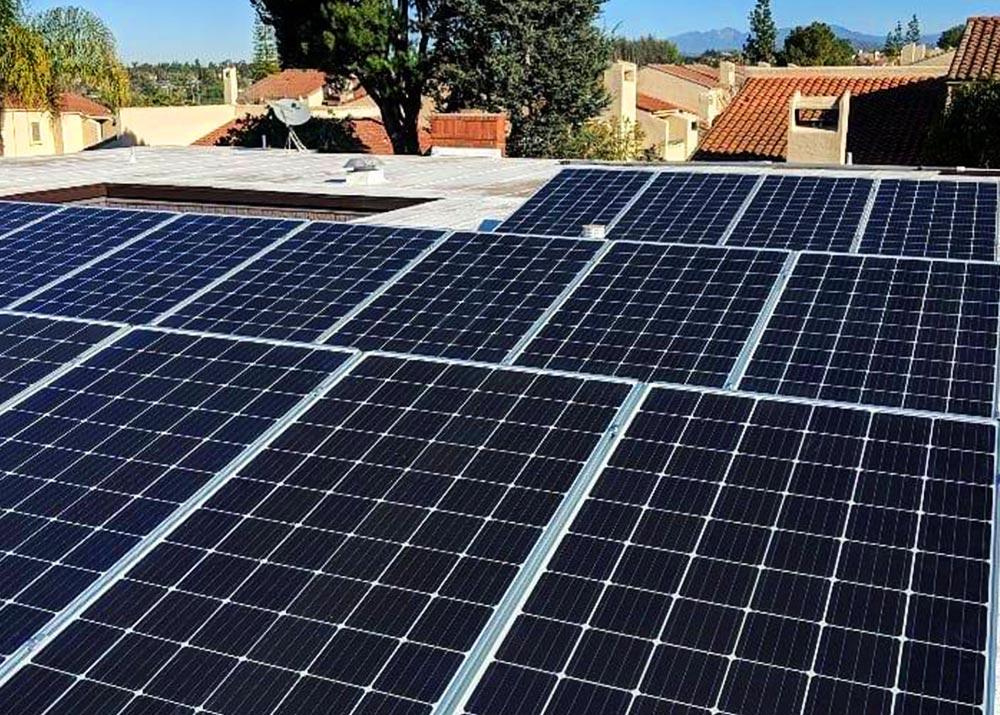 Flat Roof Panel Solar Install